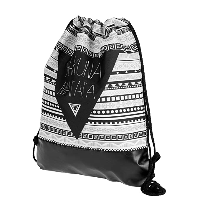 Amazon.com | Harajuku Matata Aztec Printing Leather Bottom Backpack Women Mochilas 2018 New Summer Travel Storage Leisure Bag Drawstring Bag | Drawstring ...