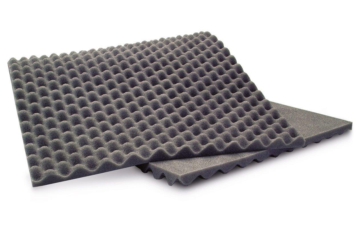90 x 40 x 2 cm, 3 Unidades Esterilla insonorizadora de Espuma ANS Egg Crate