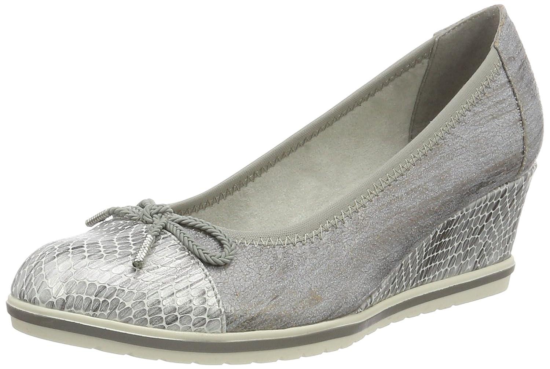 Tamaris 22461, Zapatos de Tacón para Mujer 41 EU|Plateado (Steel Str.comb 245)