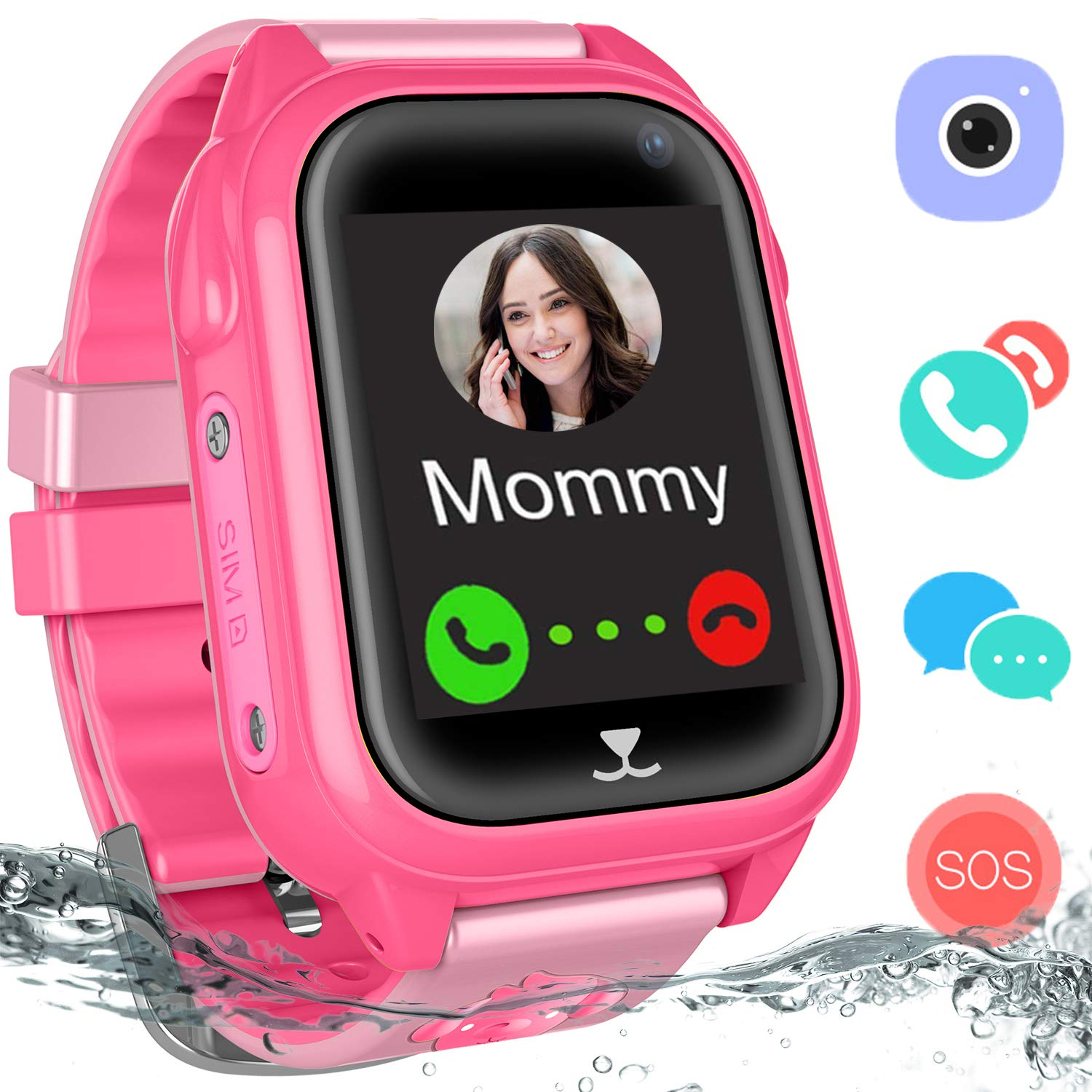 PalmTalkHome Kids Smartwatches for Boys Girls - GPS Fitness Tracker Watch  for Children with Game Phone Voice Chat Alarm Clock Camera Flashlight