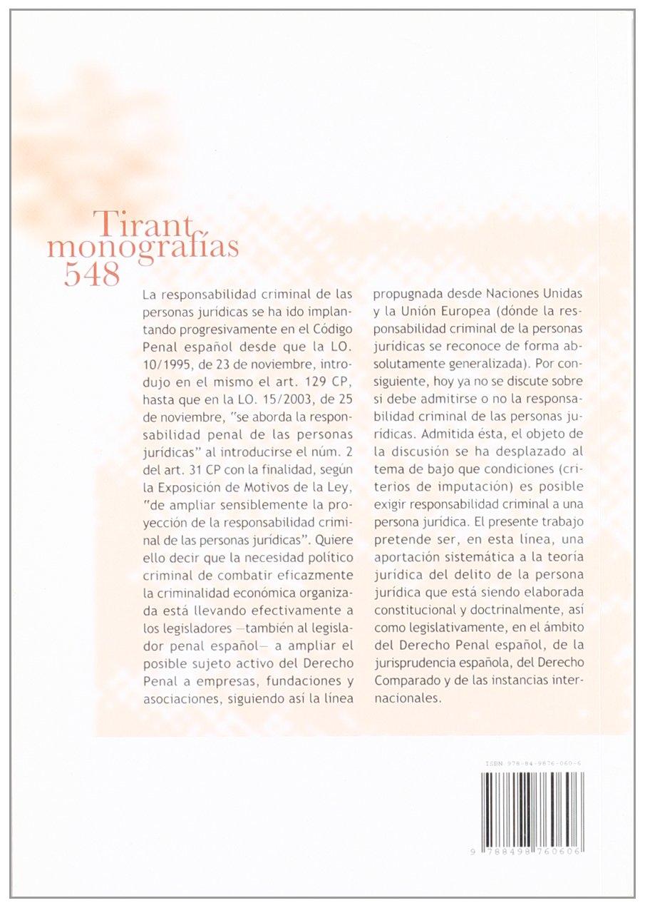 La responsabilidad penal de empresas , fundaciones y asociaciones: Amazon.es: José Miguel Zugaldía Espinar: Libros