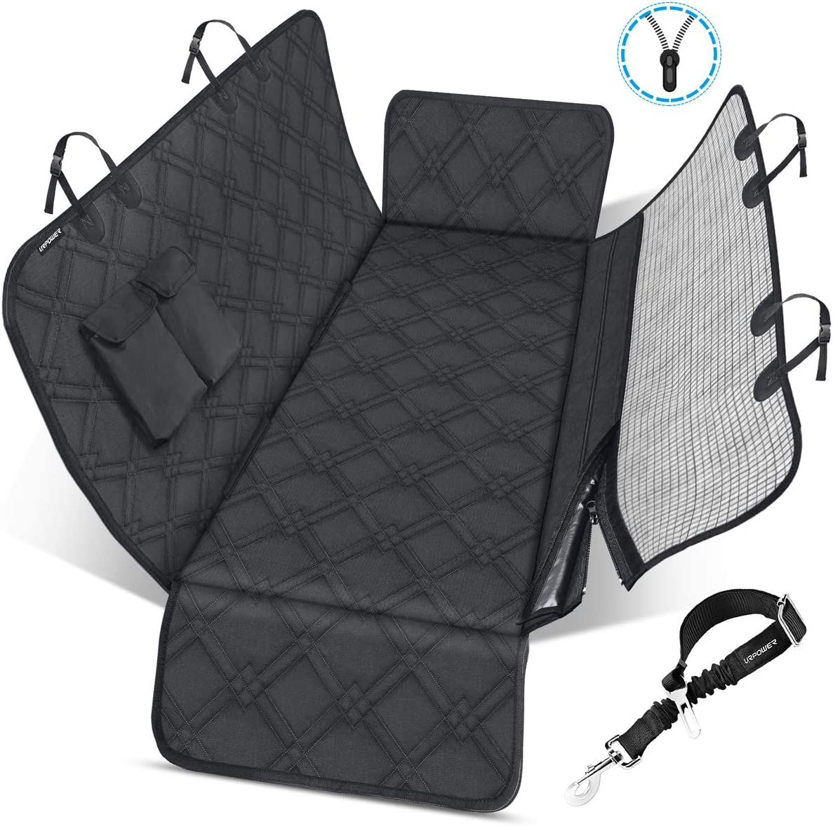 Headrest Pet Dog Mesh Guard Barrier Divider MREQLBL+HMSH5828 Mr E Saver/© Deluxe Quilted Heavy Duty Boot Protector