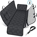 URPOWER Dog Seat Covers with Detachable Mesh Visual Window 100% Waterproof Dog Car Seat Cover Nonslip Pet Bench Seat…