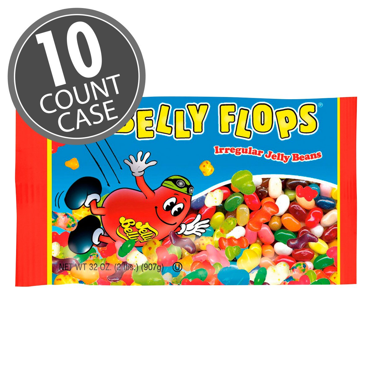 Jelly Belly Belly Flops Jelly Beans - 10 x 2 Pound Bags of Irregular Jelly Beans - Assorted Flavors - 10 Count Case - Official, Genuine, Straight from the Source by Jelly Belly