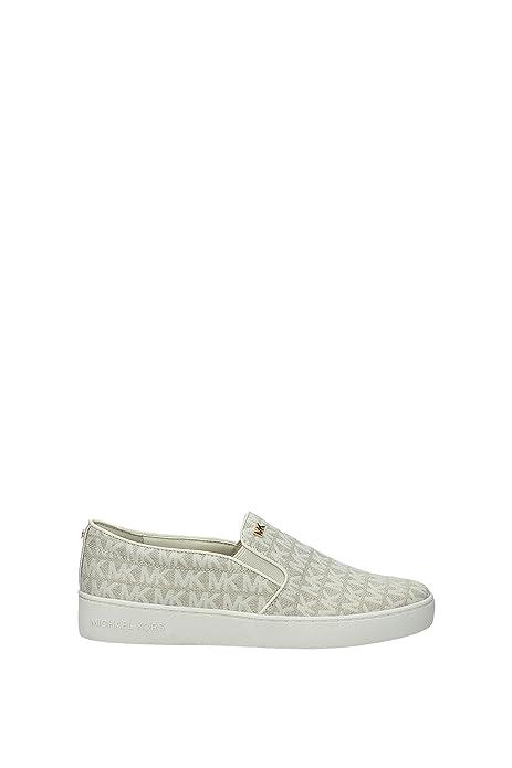 Zapatillas sin Cordones Michael Kors Keaton Mujer - Tejido (43S8KTFP1YOPTICWHITE) 38 EU: Amazon.es: Zapatos y complementos
