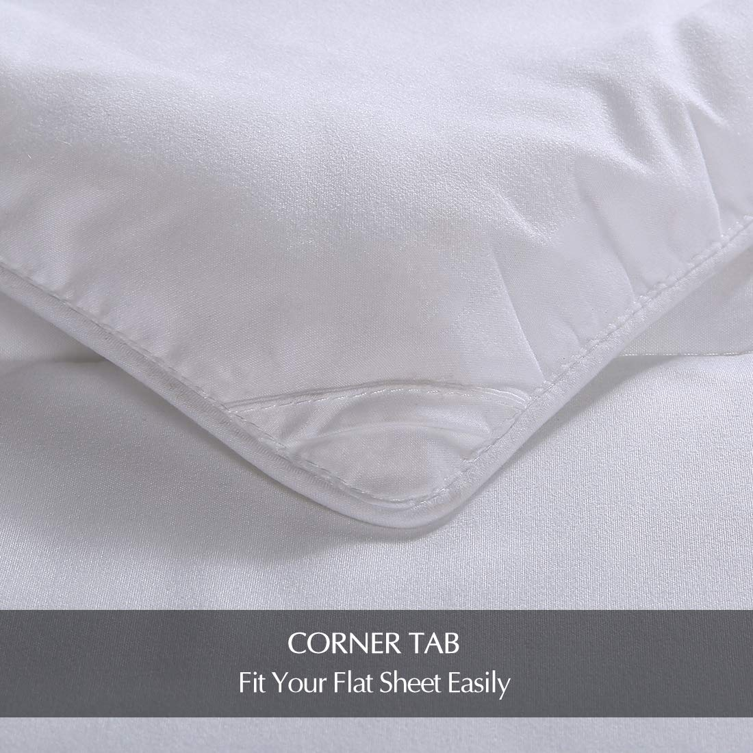 EMONIA Full/Queen Size Comforter for Summer,White Quilted Down Alternative Duvet Insert-Hotel Collection Reversible Hypoallergenic Light and Machine Washable by EMONIA (Image #6)