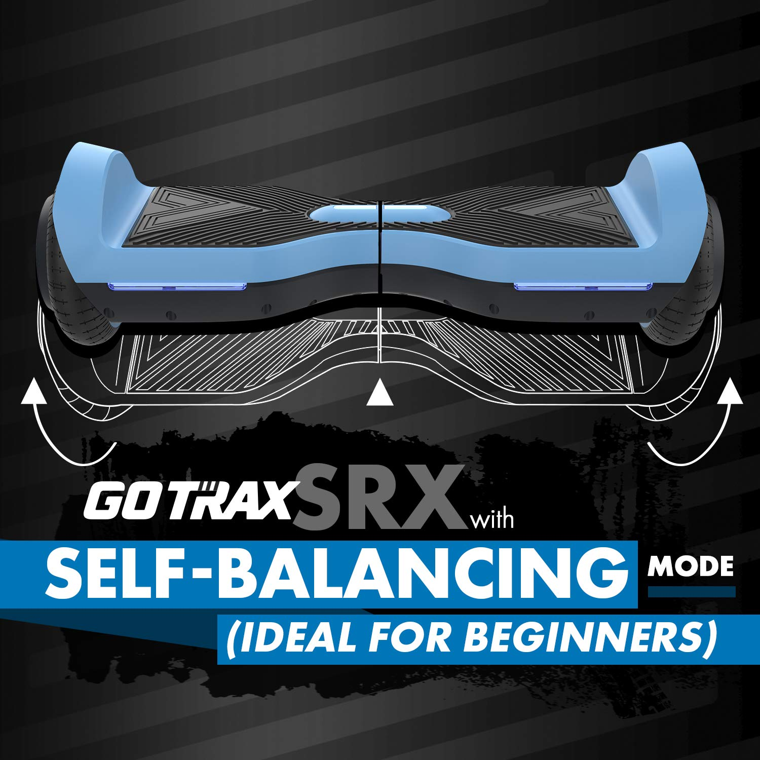 GOTRAX SRX Hoverboard - UL2272 Self Balancing Hover Board w/Bluetooth Speakers (Black)