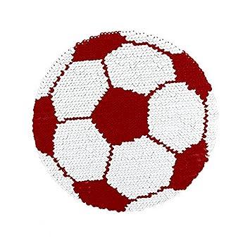 7b08da3145 Reversible Lentejuelas Ropa Parche de Fútbol Patrón Bordado DIY Coser  Parches para Ropa T-Shirt Jeans Ropa Bolsas  Amazon.es  Hogar
