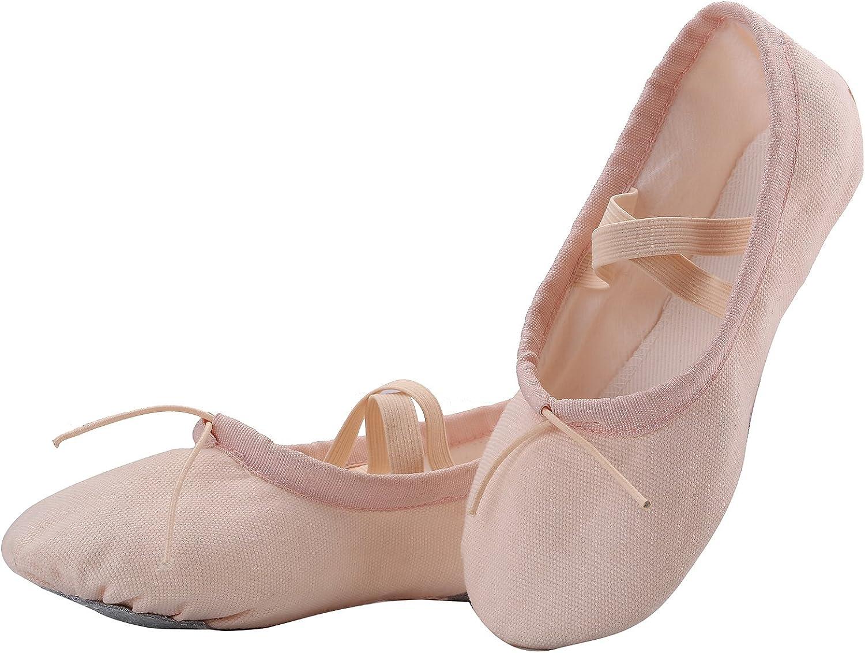 AKISS Girls' Basic Ballet Slippers Pink