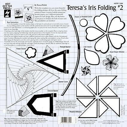 Amazon Com Hot Off The Press Templates 12 X12 Teresa S Iris Folding 2