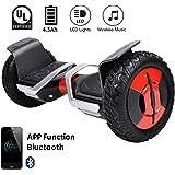 "EverCross Hoverboard Phantom Self Balancing Scooter 2 Wheel Board – UL2272 Certified, All-Terrain Bluetooth&App Three Speed Mode 10"" Alloy Wheel, 300W Dual-Motor Samsung Battery Hoverboard"