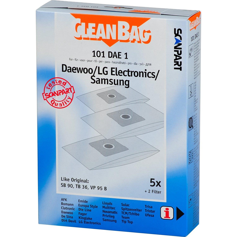 20 Staubsaugerbeutel 2 Filter passend für Samsung VC 8615 E Delight