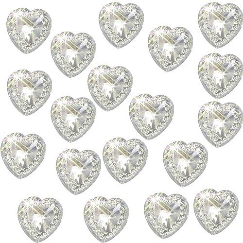 Wedding invitation embellishments amazon 80 x self adhesive clear heart gems diamante acrylic crystals approx 12cm high quality card stopboris Choice Image