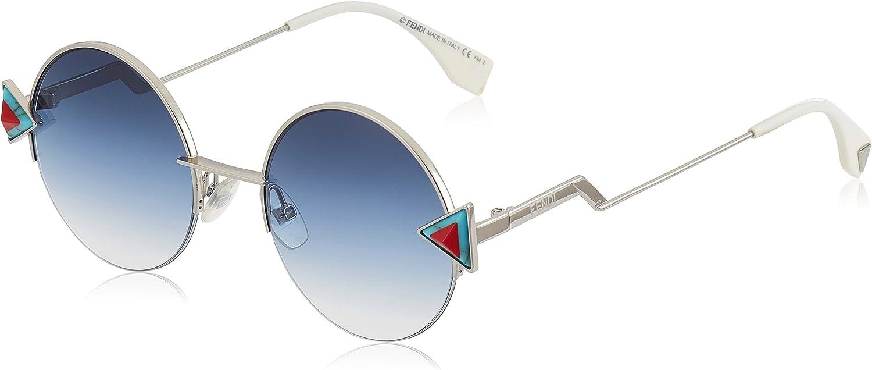 Fendi FF 0243/S NE SCB Gafas de sol, Azul (Silver Blue/Khaki Aqua Ds), 51 para Mujer