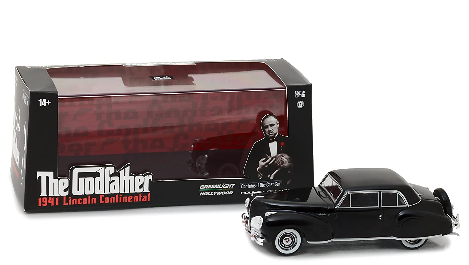 Greenlight 86507 1 43 the Godfather 1972 1941 Lincoln Continental Die Cast Vehicle