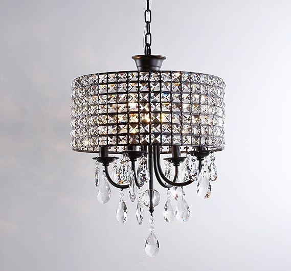 Lámpara colgante Comedor de Cristal (4 focos E14 Lámpara Techo ...