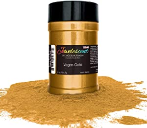 U.S. Art Supply Jewelescent Vegas Gold Mica Pearl Powder Pigment, 2 oz (57g) Shaker Bottle - Cosmetic Grade, Non-Toxic Metallic Color Dye - Paint, Epoxy, Resin, Soap, Slime Making, Makeup, Art