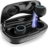 Auriculares Bluetooth, iPosible Auriculares Inalámbricos Mini Twins Estéreo In-Ear Bluetooth 5.0 Sonido Estéreo…