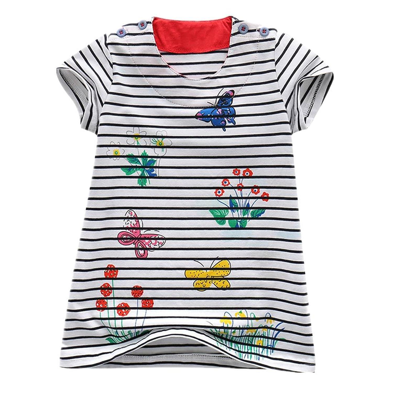 7ea6eff03 Sunny Fashion Girls' Dress Sunflower Bubble Lily Flower Garden Print ...