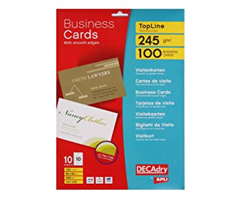 Decadry business cards 85 mm t603262 business card 100 piece 54 decadry business cards 85 mm t603262 business card 100 piece 54 mm reheart Images