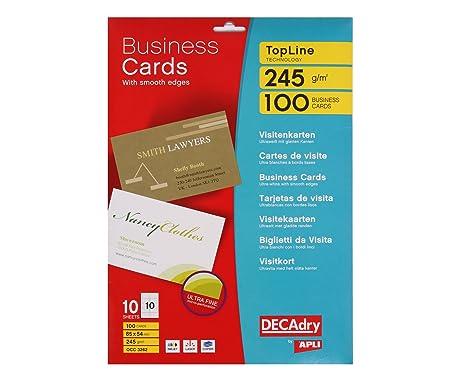 Amazon Com Apli Occ3262 Topline Business Cards 85 X 54 Mm