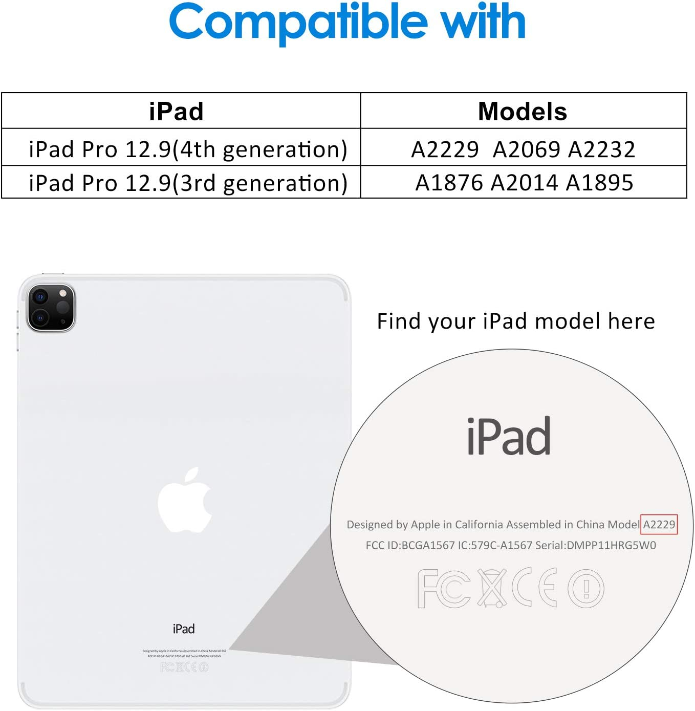 JETech Screen Protector for iPad Pro 12.9-Inch (2020 and 2018 Model, Edge to Edge Liquid Retina Display), Face ID Compatible, Tempered Glass Film: Computers & Accessories
