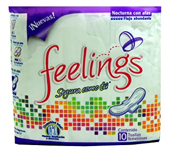 feelings As confident as yourself Feminine Pads Overnight with wings 10 ct
