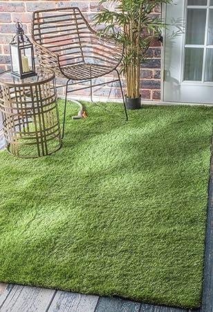 NuLOOM Indoor/Outdoor Artificial Grass Rug, Green, ...