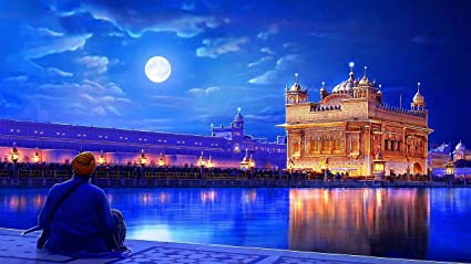 myimage golden temple night view poster paper print 12x18 inch