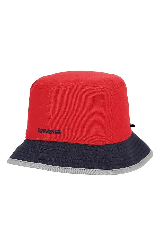 Converse Men`s Reversible Bucket Hat (Red(CON018) Navy Grey c63f539994f