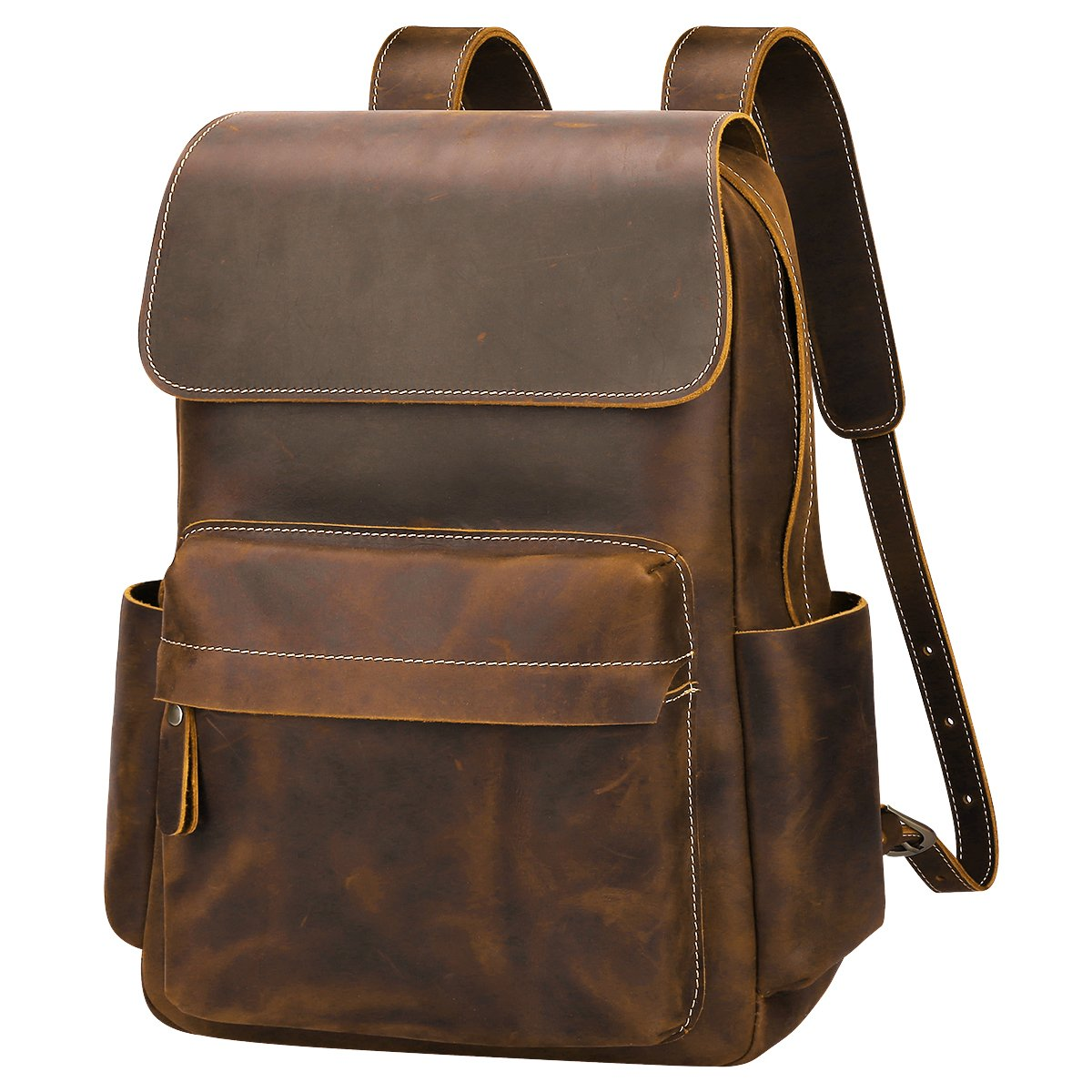 S-ZONE Casual Crazy Horse Real Genuine Leather Backpack Fashion Bag Daypack S-ZONE D10V056B