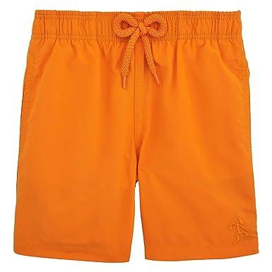 c1f1b720a9094 Vilebrequin - Water-Reactive Danse du feu Swim Shorts - Boys - Papaya -  8Yrs: Amazon.co.uk: Clothing