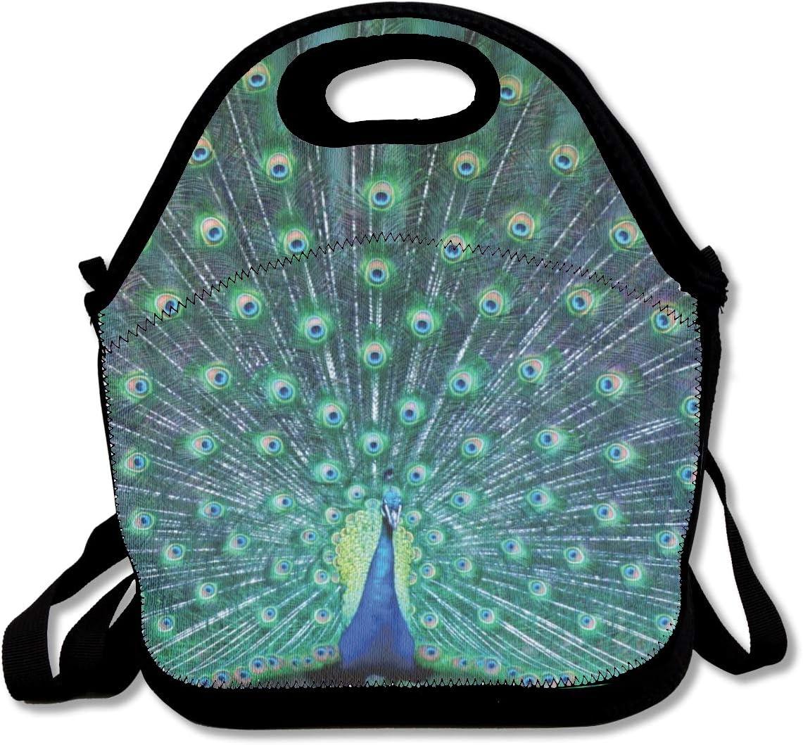Peacock Feather Image Design Portable Handbag Hanger
