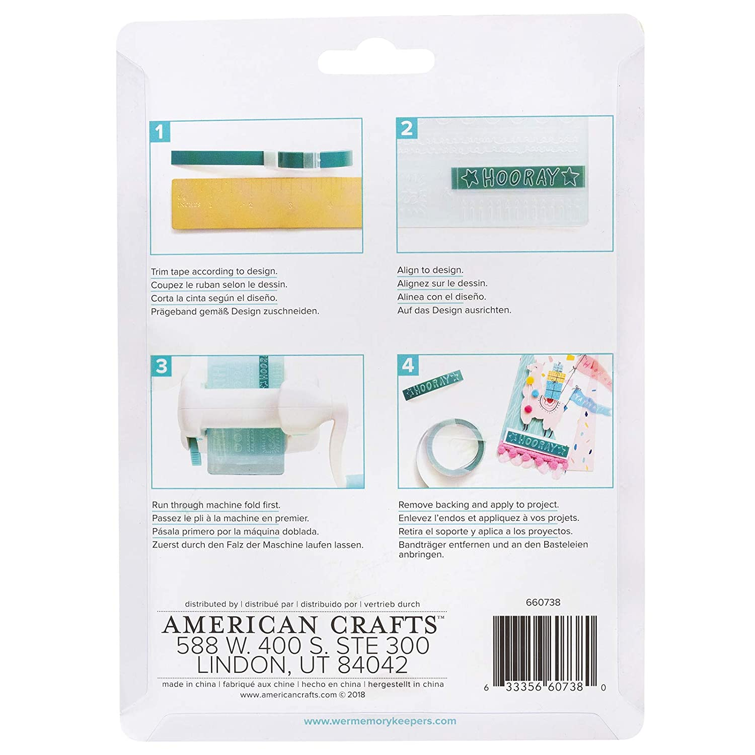 4 Piece We R Memory Keepers 660738 0633356607380 Label Embossing Folder Evolution-Everyday