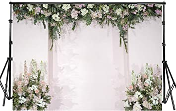 New Photo Background 7x5 White Curtains Green Forest Indoor Backdrops for Wedding Photoshoot No Wrinkle Photographic Studio Background Custom Size