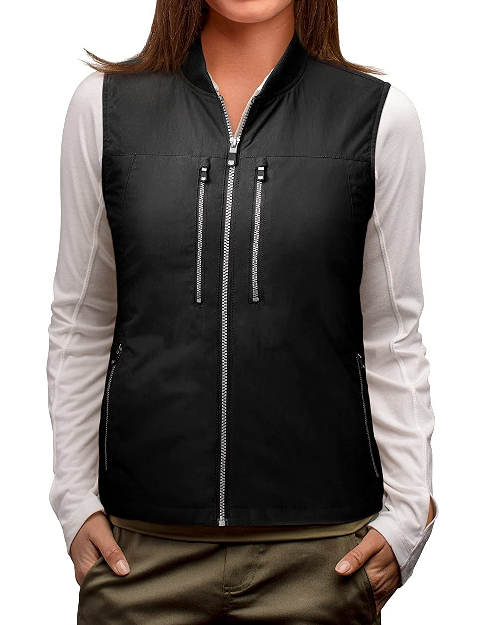 Black SCOTTeVEST 101 Travel Vest for Women with Pockets  Lightweight Utility Vest