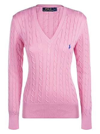 f5a4357149c438 Ralph Lauren - Pull - Femme Rose Rose Bonbon - Rose - Medium  Amazon ...