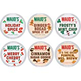 Maud's Holiday Flavored Coffee Variety Pack (Rudolph's Favorite Brew), 42ct. Recyclable Flavored Variety Coffee Pods…