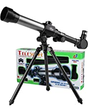 PHOEWON Kids Astronomical Telescopes Early Science Telescope with Tripod Portable Educational Learning Toy Telescope for Kids Beginners Sky Star Gazing Birds Watching