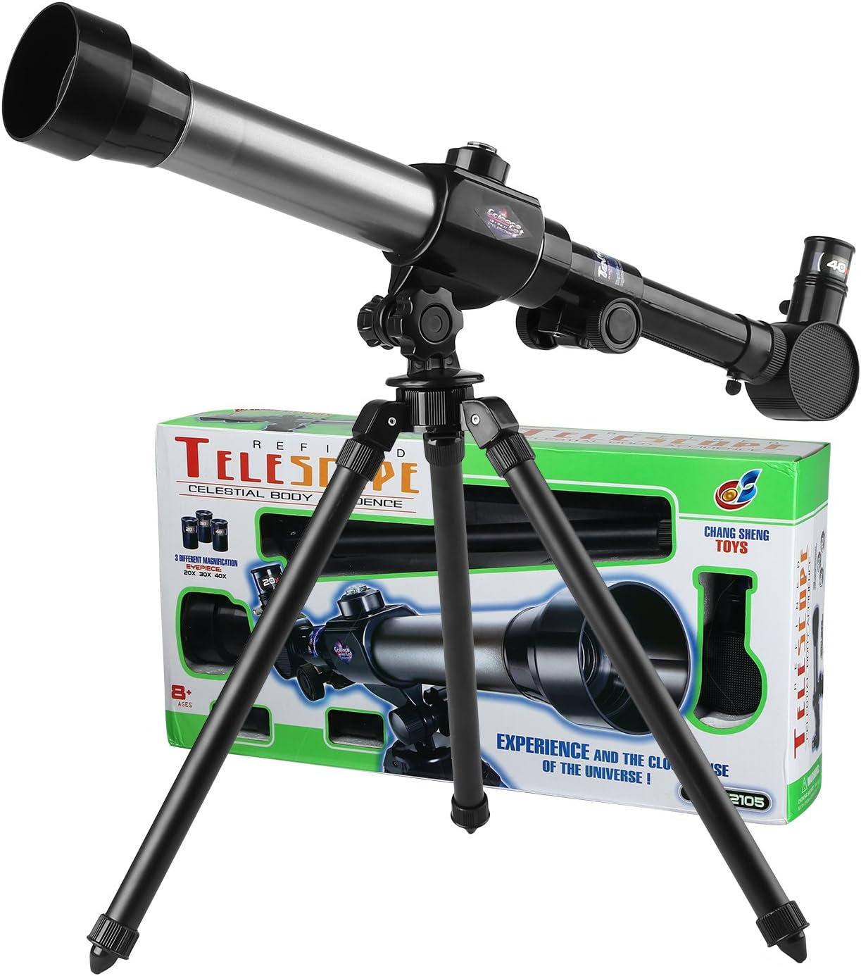 Phoewon Teleskop Für Kinder Kinderspielzeug 20x 30x 40x Astronomisches Kinder Fernrohr Teleskop Für Astronomie Anfänger Kinderteleskop Set Mit Stativ Wissenschaft Spielzeug Spielzeug