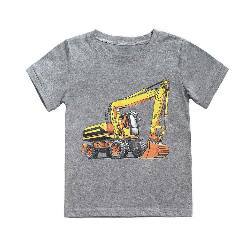 Shorts Soft Home Wear Kehen Kid Toddler Boy Summer Clothes Cotton Pajamas Tractor Print Short Sleeve Tee