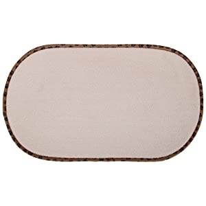 Home-X - Pet Bowl Mat, Highly Absorbent Microfiber Design Reduces Messes by Soaking Up Spills and Drips, Great for Both Cats & Dogs