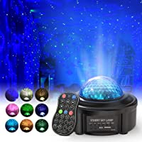 Star Projector Night Lights with Remote Control,Sinohrd Ocean Wave Projector with Led Light, Nebula Cloud Projector for…