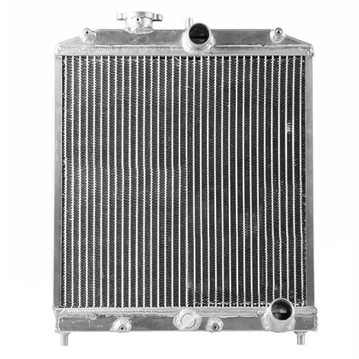 TOPQSC 92-00 Radiador Tanque de agua de fila doble del coche radiador de aluminio del coche tanque de agua: Amazon.es: Coche y moto