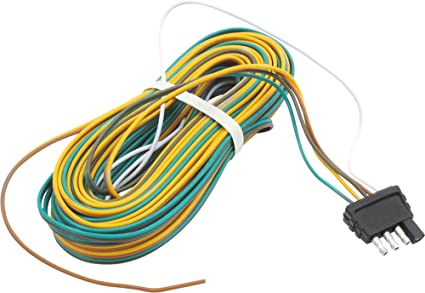 amazon com trailer wire harness 25 feet 4 way flat plug automotive seven pole wiring harness trailer wire harness 25 feet 4 way flat plug