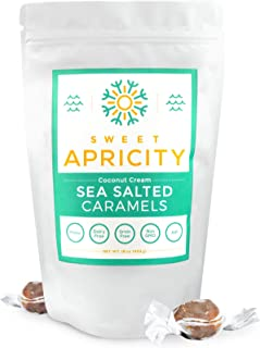 product image for Sea Salt Caramels, Individually Wrapped Salted Caramel Candy, Suitable for Paleo Diet and Autoimmune Protocol - (AIP diet), 16 oz - Sweet Apricity