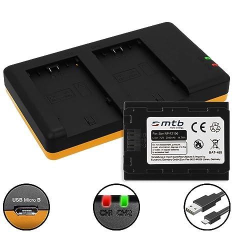 Batería + Cargador Doble (USB) Compatible con NP-FZ100 ...
