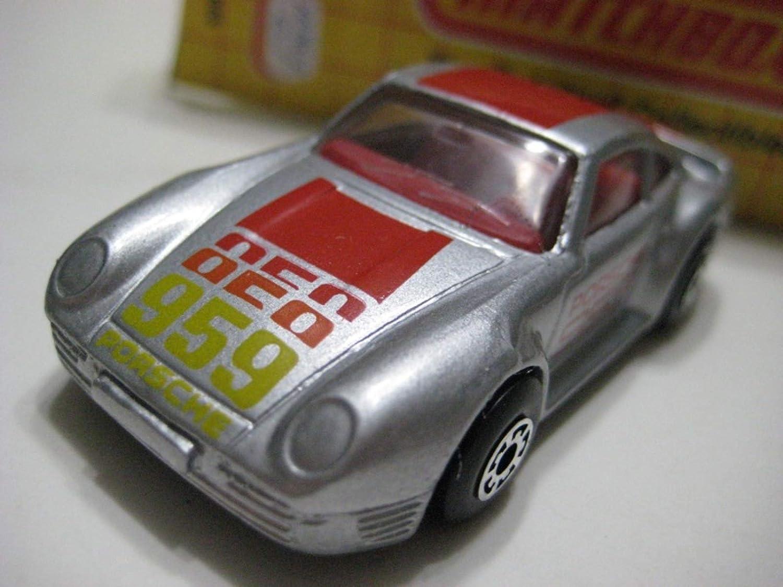 Vintage MATCHBOX PORSCHE 959 MB-7 Die-cast Model Car with box Scale 1:58