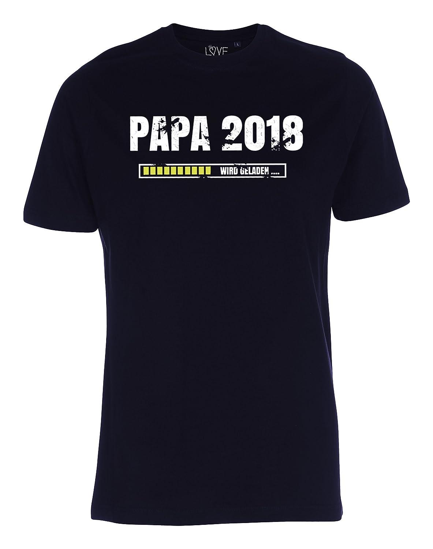 LOVE RULES Papa T-Shirt 2018 loading vorgang wird geladen Vater Geschenk  für werdende Väter: Amazon.de: Bekleidung