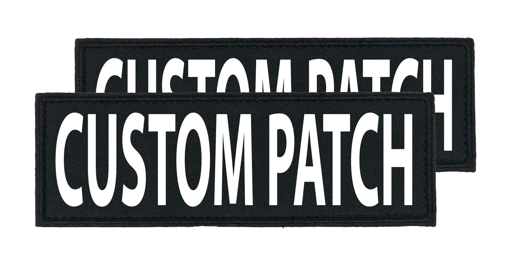 Dogline Custom Bright White Text Patch For Vest Harness Or Collar Customizable Text Personalized Patches with Hook Backing Name Service Dog In Training Emotional Support (2 patches) - 1.5'' x 5'' by 101 Outlets